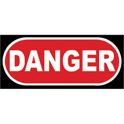 Art4Kids/Creative Images Danger Road Sign Wall Art