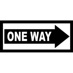 One Way Road Sign Wall Art