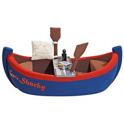 Capt'n Sharky Toddler Boat Bed
