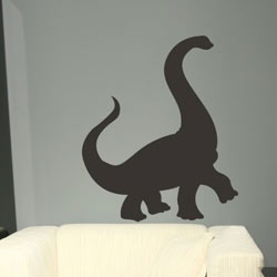 Alphabet Garden Designs Chalkboard Dinosaur Wall Decal