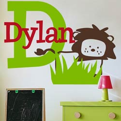 Alphabet Garden Designs Dylan's Lion Wall Decal