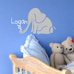 Alphabet Garden Designs Logan's Elephant Wall Decal