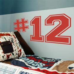 Alphabet Garden Designs Varsity Numbers Wall Decal