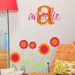 Alphabet Garden Designs Annelie's Monogram Wall Decal