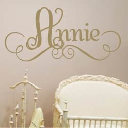 Alphabet Garden Designs Annie's Wall Decal