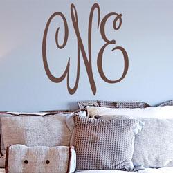 Alphabet Garden Designs Christine's Monogram Wall Decal
