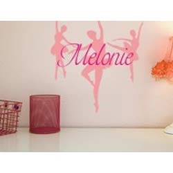 Alphabet Garden Designs Personalized Dance Wall Decal