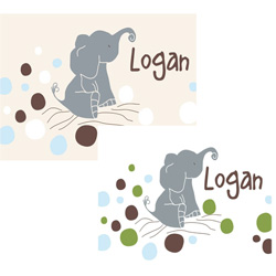 Alphabet Garden Designs Logan's Dots Canvas Art