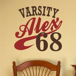 Alphabet Garden Designs Varsity Wall Decal