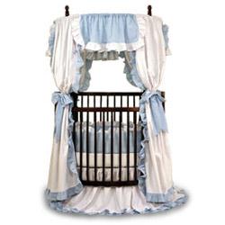 Angel Line Baby Ruffle Round Crib Bedding