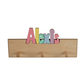 Personalized 8 Letter Coat Rack