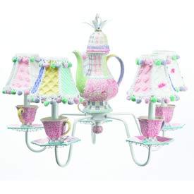 Just Too Cute Deluxe Teapot Chandelier