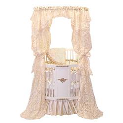 Gold Canopy Round Crib