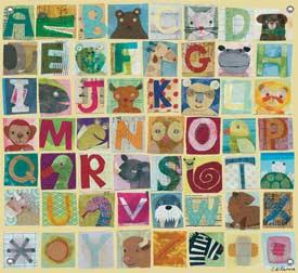 Animal Alphabet Canvas Art