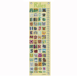 Oopsy Daisy/No Boundaries My Animal Alphabet Personalized Growth Chart