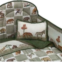 California Kids Animal Kingdom Portable Crib Bedding
