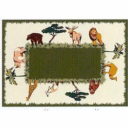 California Kids Animal Kingdom Sculpted Rug