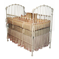 Corsican Antique Masterpiece Iron Baby Crib