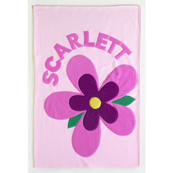 Admiral Road Personalized Bloom Baby Blanket