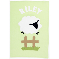 Admiral Road Personalized Sheep Baby Blanket