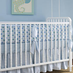 Little House Honeycomb Blue Crib Bedding