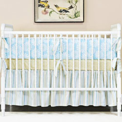 Little House Summer Aqua Crib Bedding