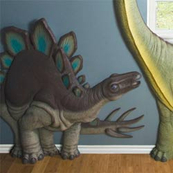3D Blue Fin Stegosaurus