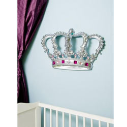 3D Princess Crown Wall Art Decor