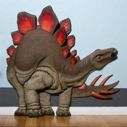 3D Red Fin Stegosaurus