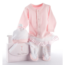 Kate Aspen Ballerina 2 Piece Layette Set