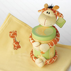 Kate Aspen Jo Jo Giraffe 2 Piece Plush Gift Set