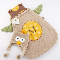 Kate Aspen My Little Night Owl Snuggle Sack and Cap
