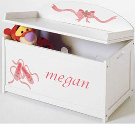 Custom Handpainted Ballet Toy Box