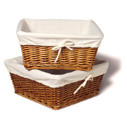 Amelia Honey Willow Basket Set