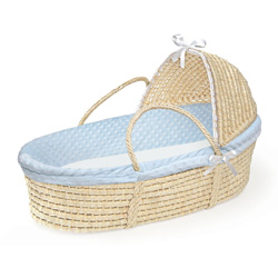 Badger Basket Furry Dot Hooded Moses Basket