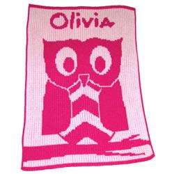 Custom Owl Stroller Blanket