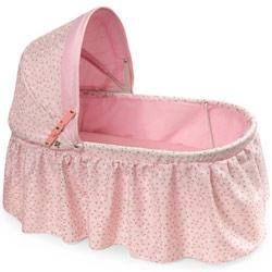 Badger Basket Rosebud Folding Doll Cradle