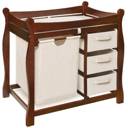 Badger Basket Sleigh Style Changing Table With Storage