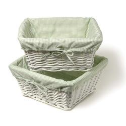 Amelia White Willow Basket Set
