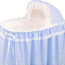 Baby Doll Gingham Liner/Skirt and Hood
