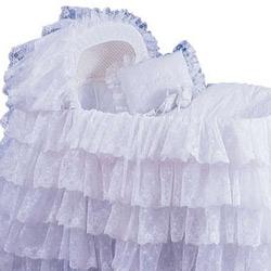 Baby Doll Extravaganza Bassinet Liner/Skirt & Hood