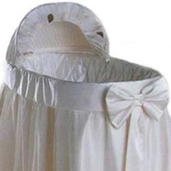 Baby Doll Flowerganze Bassinet Liner/Skirt & Hood