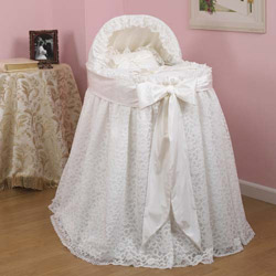 Draped Lace Bassinet Set