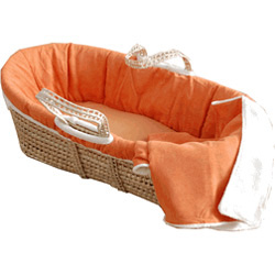 Sleeping Partners Sherpa Suede Moses Basket