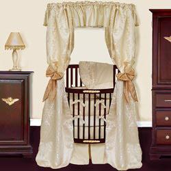 Baby Doll Royale Brocade Round Crib Bedding