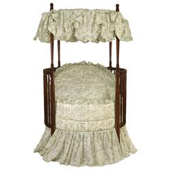 Baby Doll Toile Round Crib Bedding