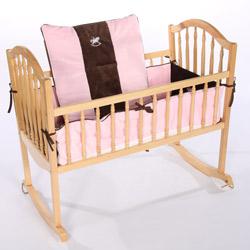 Choco Minky Rocking Horse Cradle Bedding