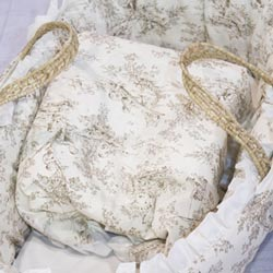 Baby Doll Brown Toile Baby Blanket