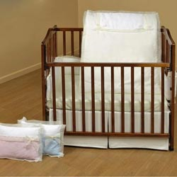 Classic Bows Porta Crib Bedding