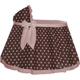 Baby Doll Cocoa Pink Dot Bassinet Sheet